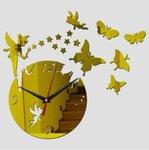 """Dekoratyvinis sieninis veidrodinis laikrodis-lipdukas """"Fairy"""""""