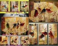 Nauji Modern.paveikslų tapybos ant drobės rinkinys