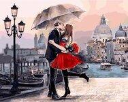 """Tapybos pagal skaičius rinkinys """"Love In The Rain"""""""