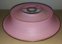 Tarybinių laikų plastmasinis šviestuvo gaubtas