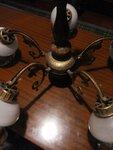 6 lempų pakabinama bronzos šviestuvas