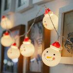Lempučių grilianda Snowman
