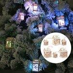 Medinė LED pakabinama kalėdinė dekoracija