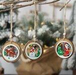 Medinė Kalėdinė dekoracija Snowman