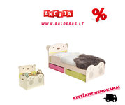 """Vaikiška lovytė """"Meškiukas"""" + čiužinukas + daiktadėžė (dėžė"""