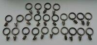 Užuolaidų kabliukai su žiedais, metaliniai