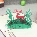 3D Kalėdinis atvirukas, su voku