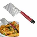 Prancūziškų fri bulvyčių ir kitų daržovių figūrinis peilis