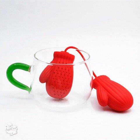 """Silikoninis sietelis arbatai """"Christmas Gloves"""""""
