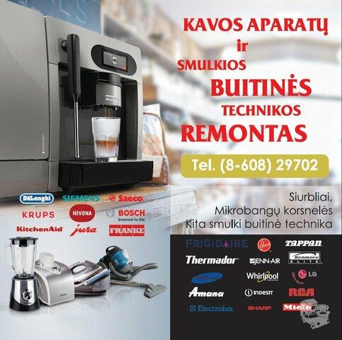 Pigus kavos aparatų remontas Vilniuje