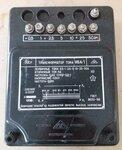 Įtampos transformatorius И54, matmenys:  ilgis 23 cm, plotis 8
