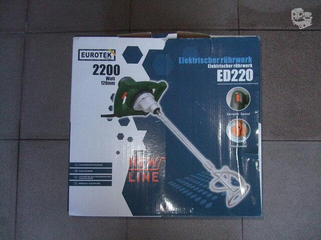 Statybinių klijų, betono maišytuvai Eurotek ED 220