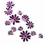 "Veidrodiniai 3D sienos lipdukai ""Gėlytės"", 12vnt."