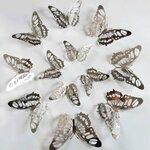 """3D sienos lipdukai """"Metalo drugeliai"""", 12 vnt."""