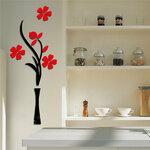 """Akrilinis 3D sienos lipdukas """"Gėlių vaza3"""" 80cm."""