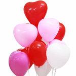 Balionai Širdelės, trijų spalvų