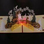 Grojantis LED 3D kalėdinis atvirukas