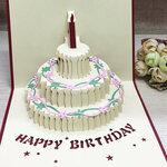 3D atvirukas Happy Birthday, su voku
