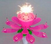 """Danuojanti muzikinė gimtadienio žvakė """"Lotuso žiedas"""""""