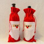 """Kalėdinė butelio dekoracija """"Kalėdų senis"""""""