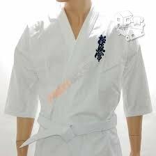 Kyokushin kimono (švarkas, kelnės ir baltas diržas)