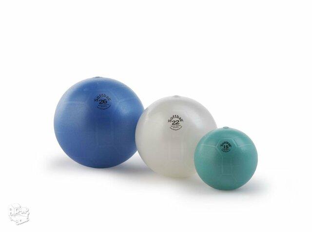 """Kamuolys mankštai """"Soffball"""" Ø22cm.  Baltos spalvos."""