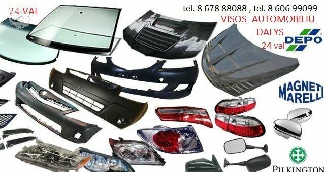 Dacia Duster žibintai / kėbulo dalys