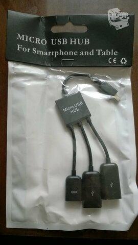 2 x USB OTG adapteris Micro USB