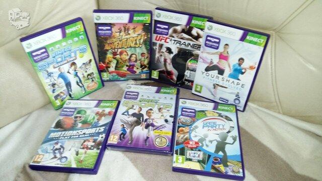 Xbox 360 originalūs žaidimai skirti žaisti su kinect sensoriumi