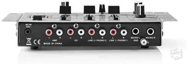 DJ Mixer   3 Stereo Channels   Crossfader   Talkover Function