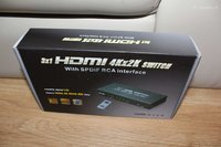 Audio video Switch Input HDMI  Output HDMI RCA Optic