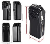 Slapta kamera 120 laipsniu kampas 1080p